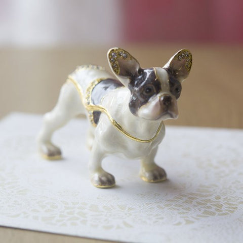 French Bull Dog Enamel Box Dog Lover Gift