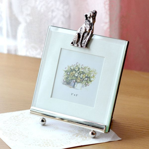Small Glass Photo Frame with Jack Russell