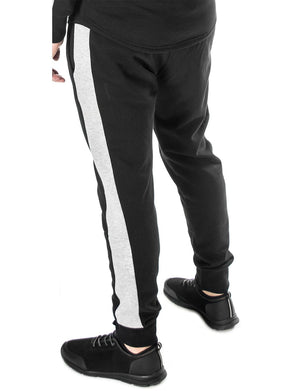 joggers for men with contrast side stripe