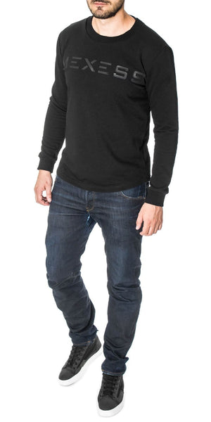 mens sweatshirt curved hem