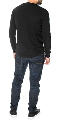 Big Chest Logo Curved Hem Sweatshirt, Black