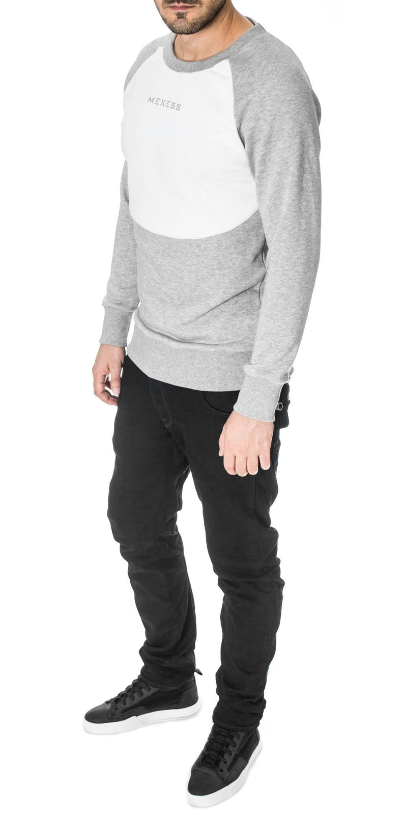 2 tone sweatshirt for men