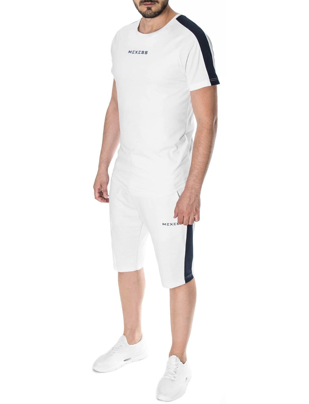 "Short Tracksuit Set ""Largo"", White"