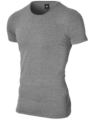Mens basic crew neck t-shirt darkgray (MOD1001RN)