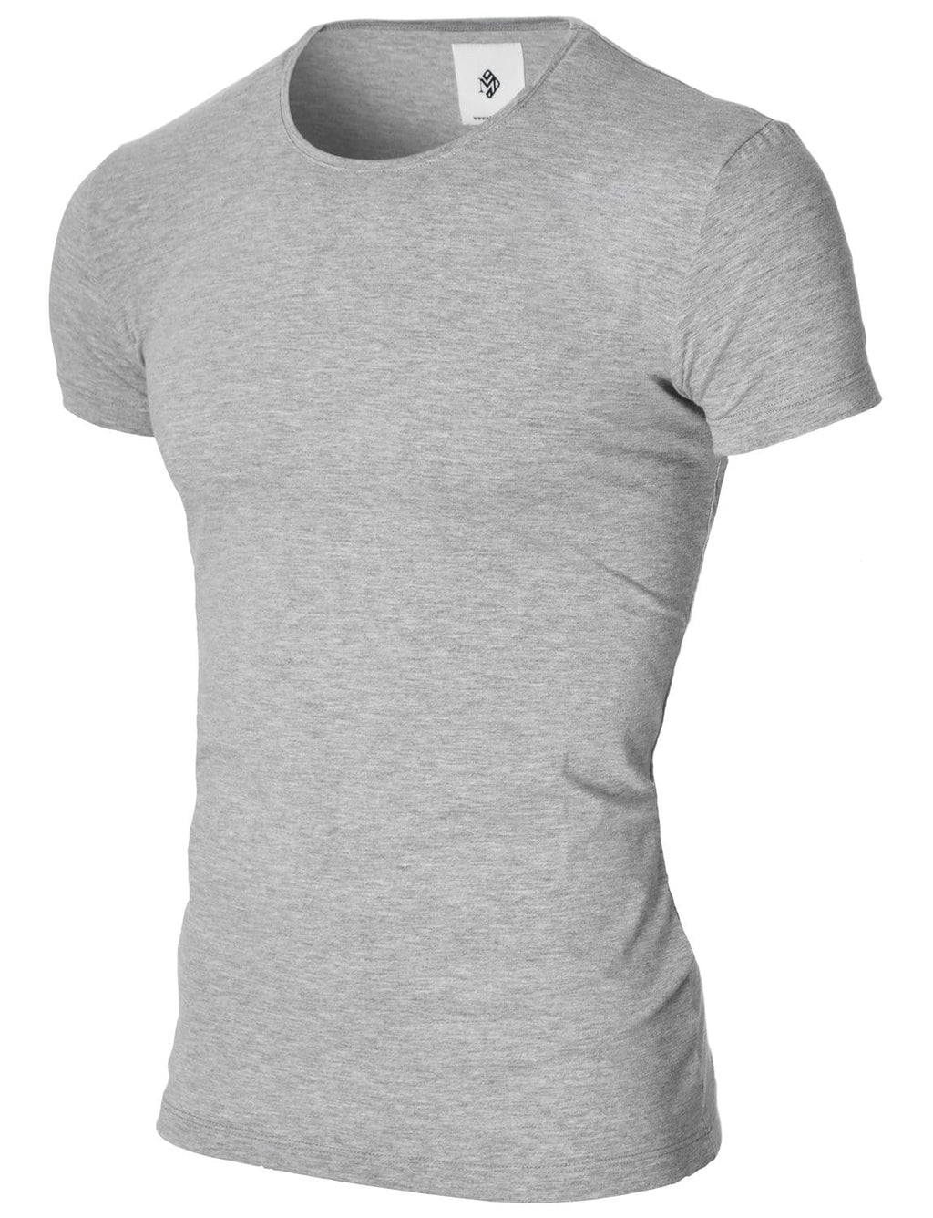 Mens basic crew neck t-shirt gray (MOD1001RN)