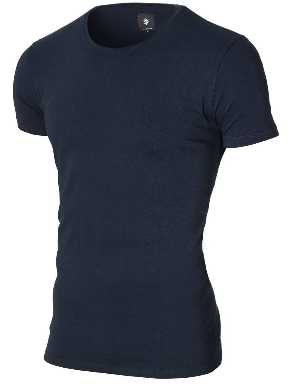Mens basic crew neck t-shirt navy (MOD1001RN)