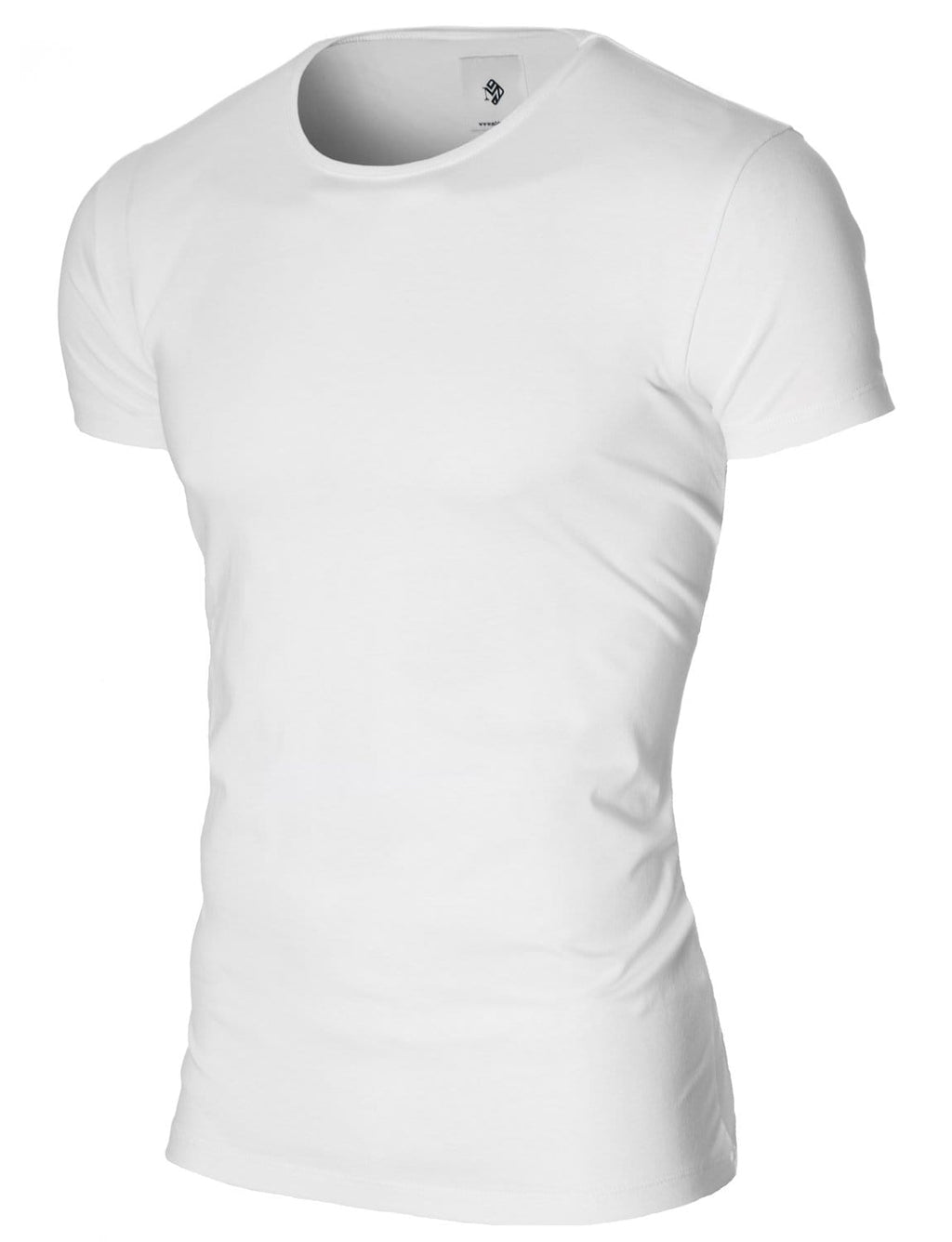 Mens basic crew neck t-shirt white (MOD1001RN)