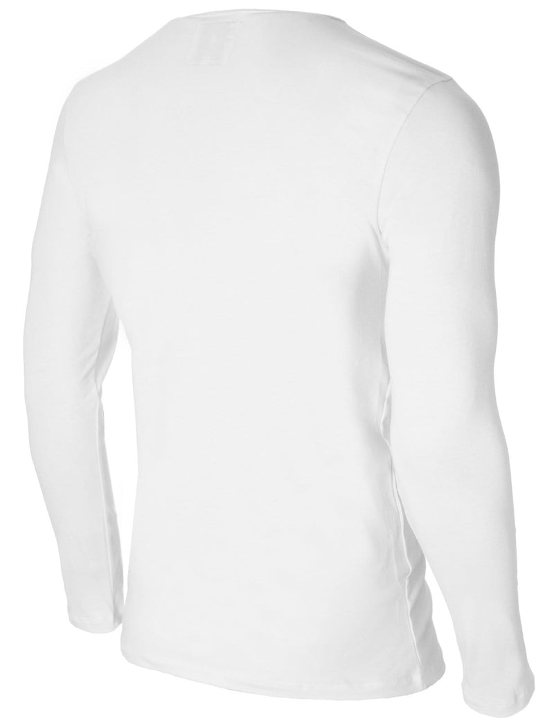 Mens Long Sleeve Paris Print T-shirt White (MOD1013LS)