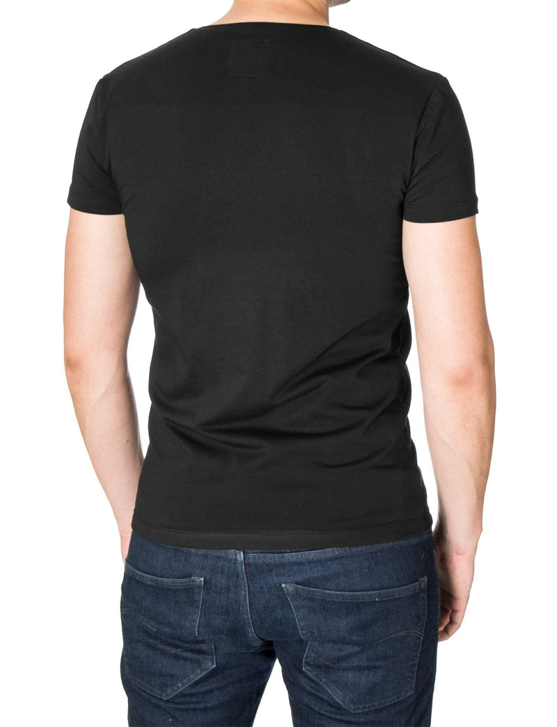 Mens printed graphic t-shirt black (MOD1013RN)
