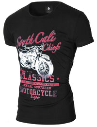 Mens Vintage Motorcycle Graphic Tee Black (MOD1027RN)