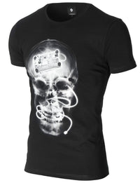 Mens Skull Graphic Tee Black (MOD1029RN)