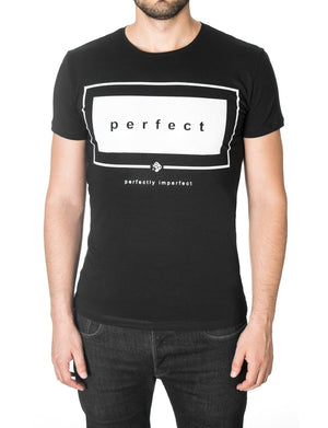 Mens Slogan Graphic Tee Black (MOD1031RN)