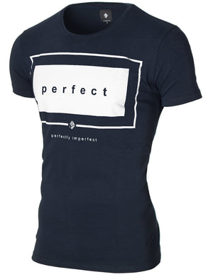Mens Slogan Graphic Tee Dark Navy (MOD1031RN)