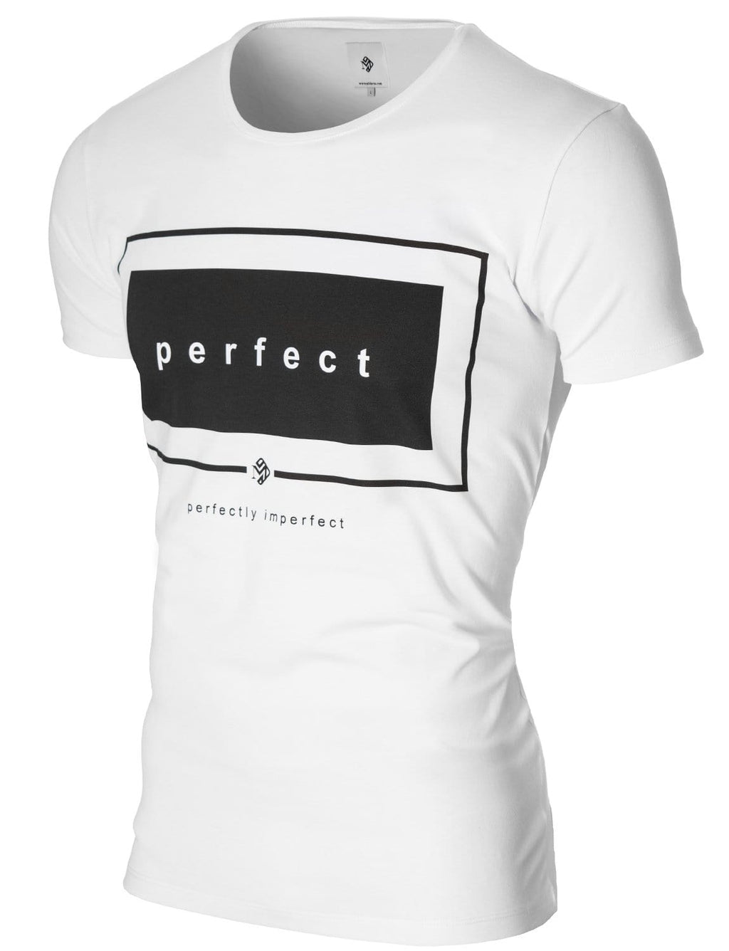 Mens Slogan Graphic Tee White (MOD1031RN)