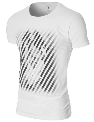Mens Sexy Woman Graphic T-shirt White (MOD1033RN)