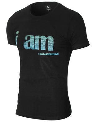 Mens Slogan Graphic T-shirt Black (MOD1040RN)