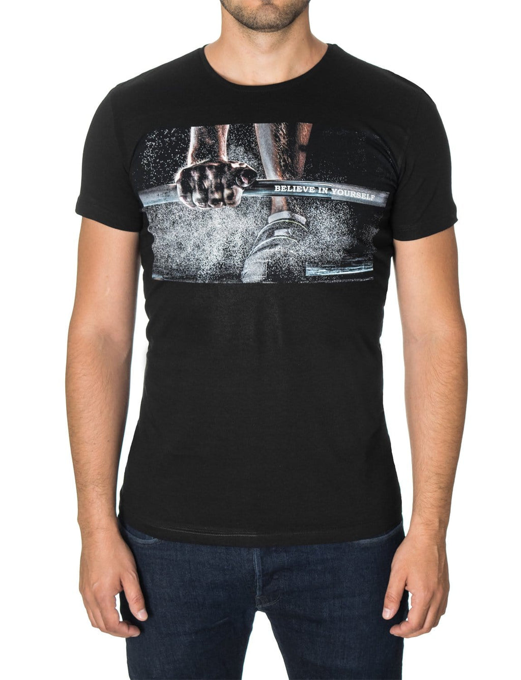 Mens Graphic T-shirt Black (MOD1043RN)