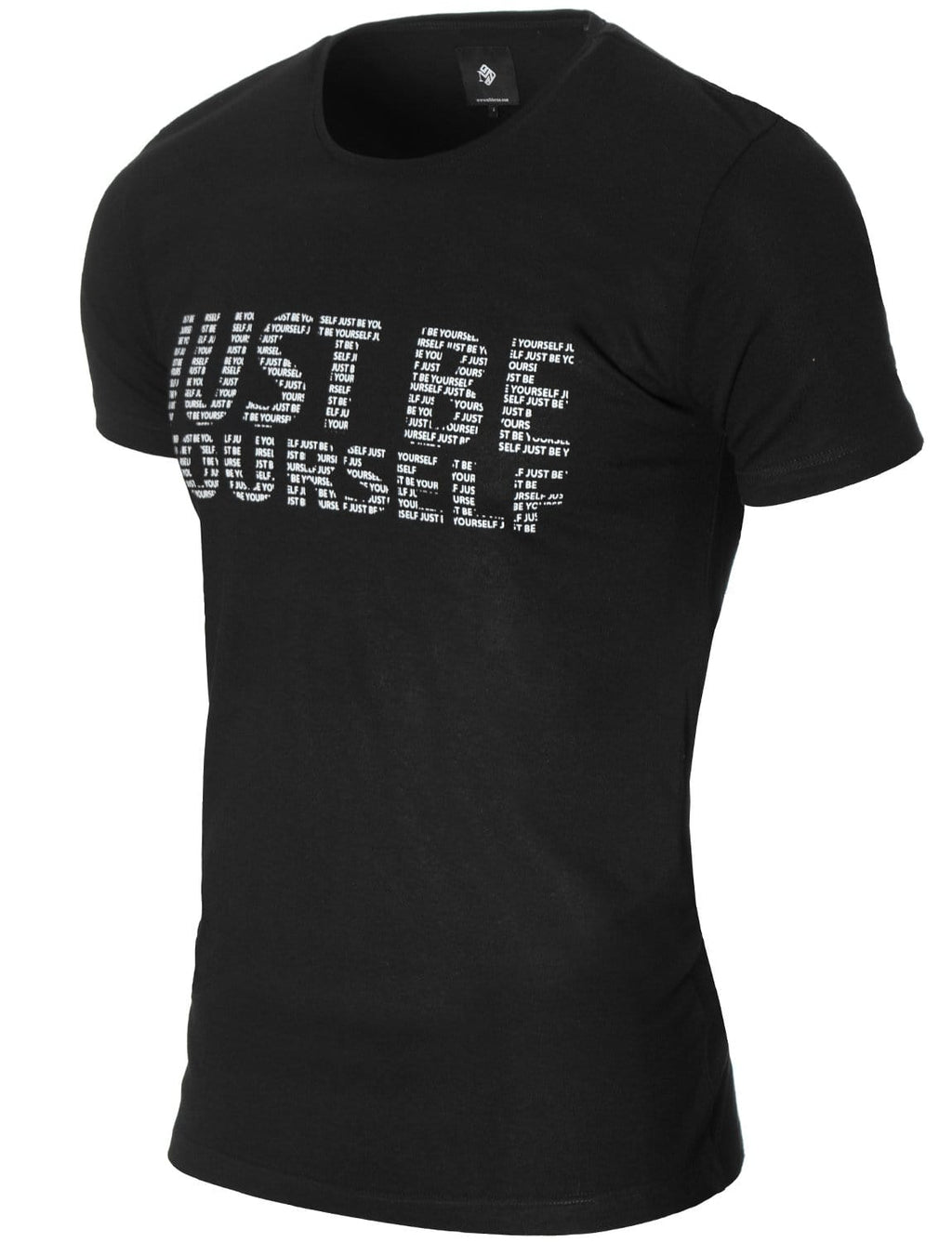 Mens Slogan Graphic T-shirt Black (MOD1045RN)