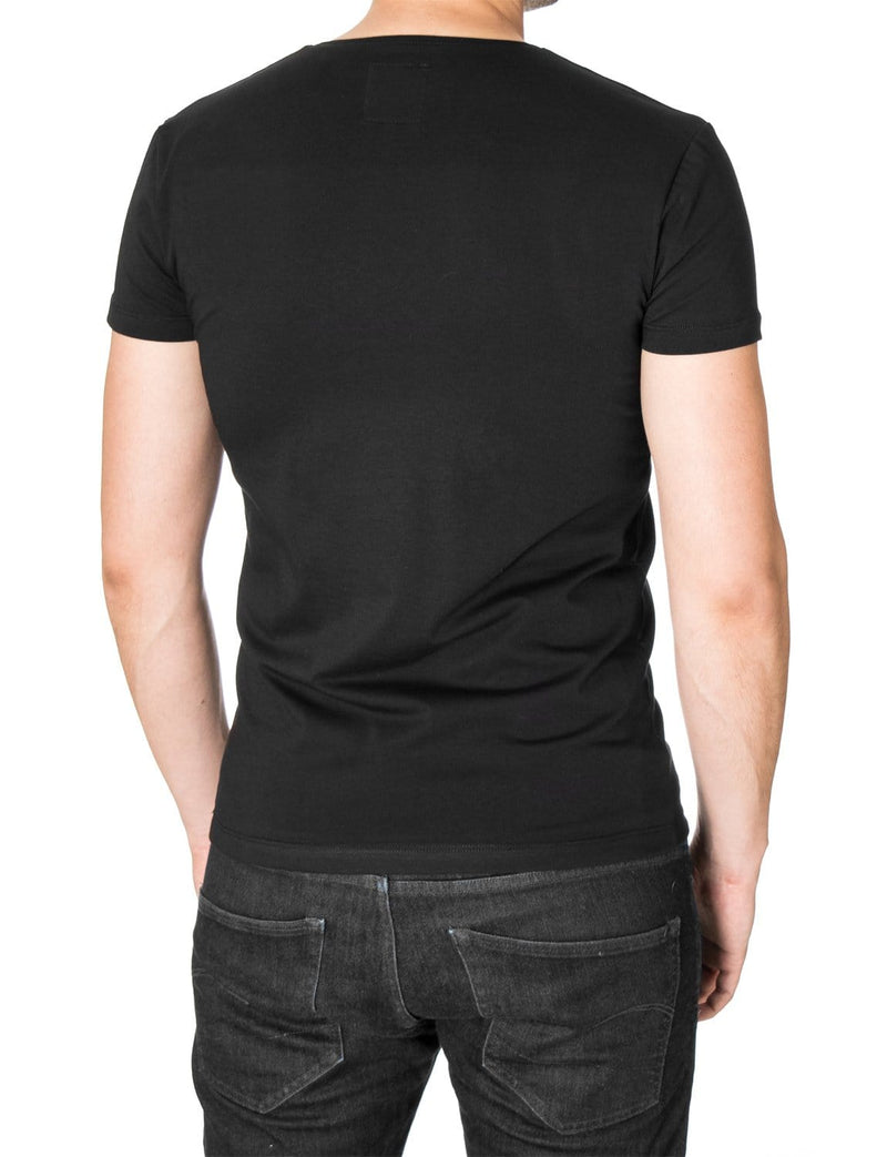 Mens Animal Graphic T-shirt Black (MOD1046RN)