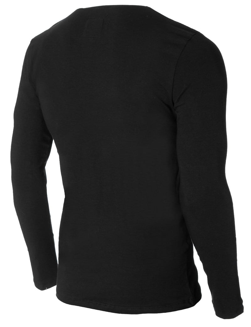Mens Long Sleeve Asymmetric Triangle Graphic T-shirt Black (MOD1048LS)