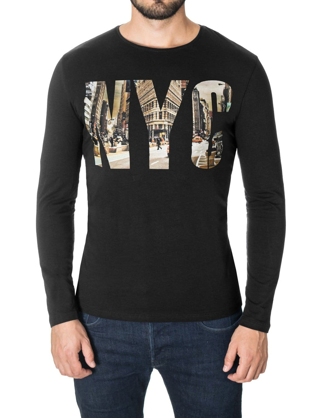 new york nyc long sleeve t shirt for men