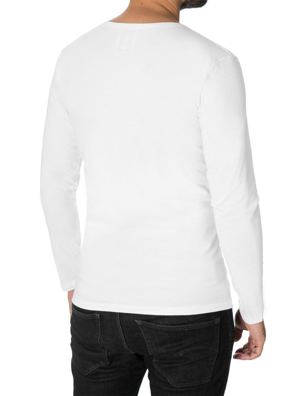 "Mens Long Sleeve T-shirt ""Born Free"" White (MOD1061LS)"