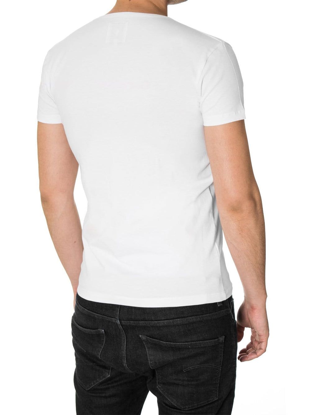 "Mens T-shirt ""Born Free"" White (MOD1061RN)"