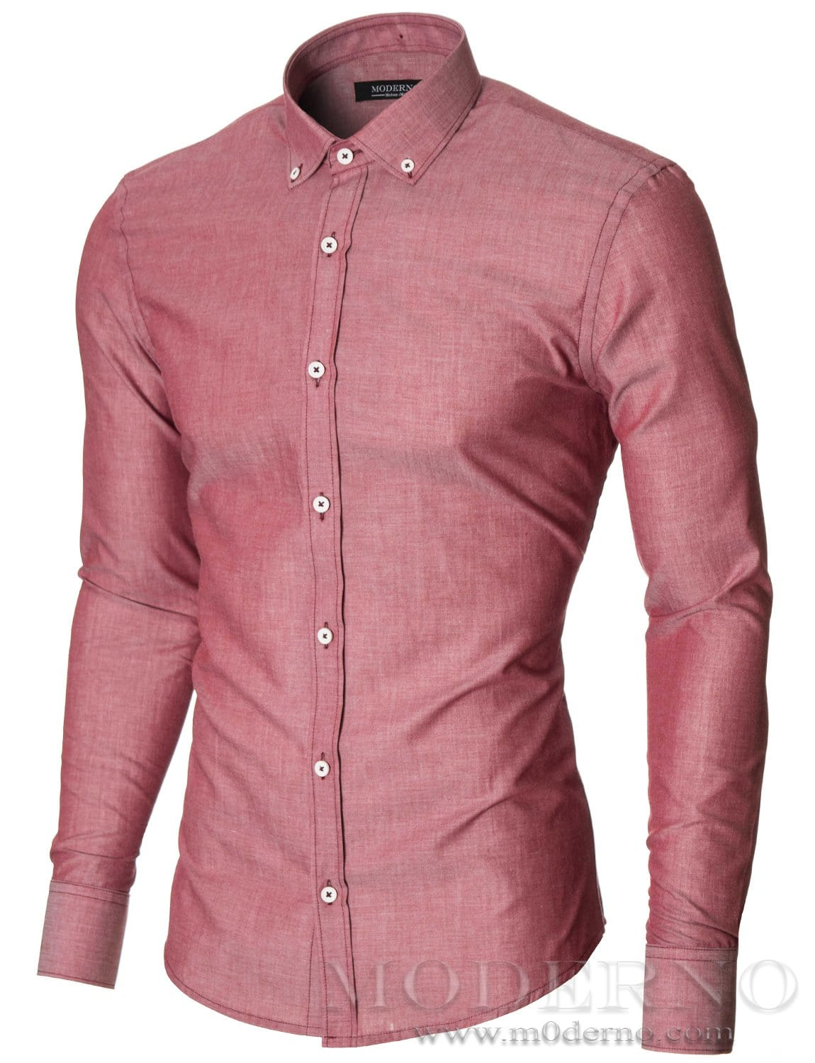 Red and White Men's Dress Shirt