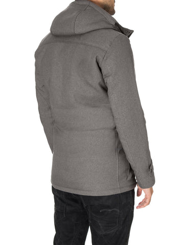 Mens casual winter parka coat gray (MOD13533C) - MODERNO