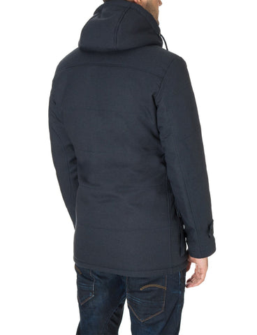 Mens casual winter parka coat navy (MOD13533C) - MODERNO