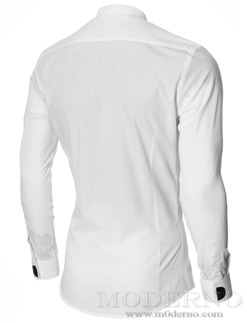 Mens dress shirt white (MOD1427LS) - MODERNO
