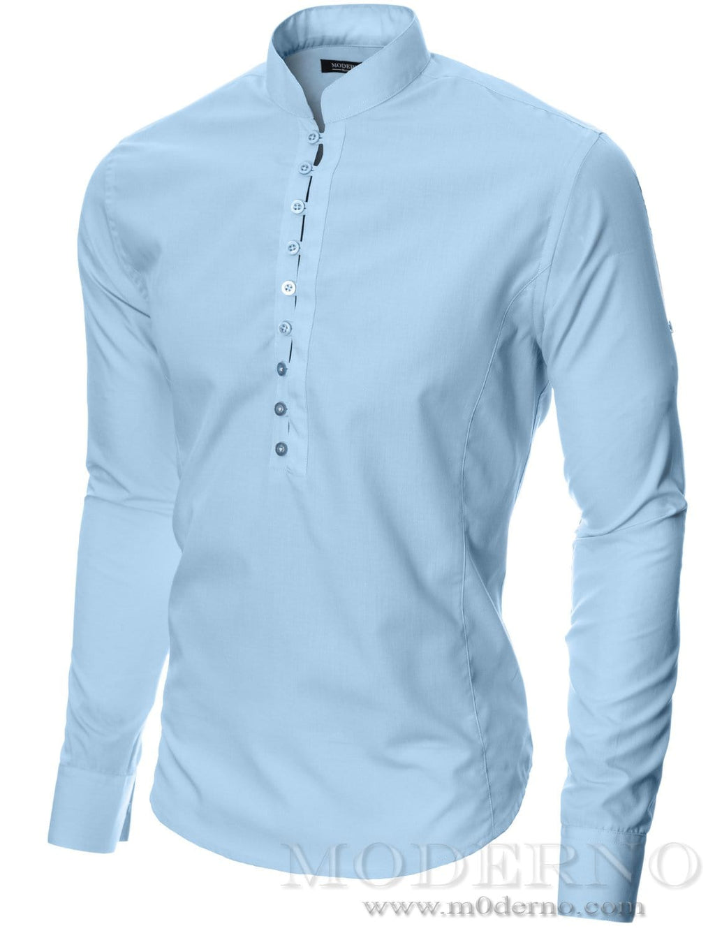 Mens button-down shirt sky (MOD1431LS) - MODERNO