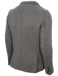 Mens casual knitted cotton blazer dark gray (MOD14515B)