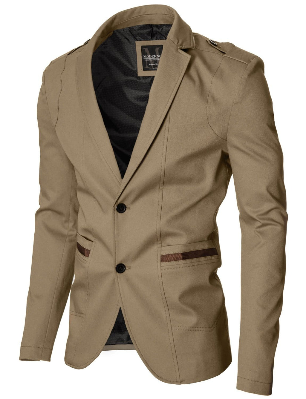 Mens slim fit casual blazer beige (MOD14518B)