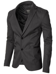 Mens slim fit casual blazer gray (MOD14518B)