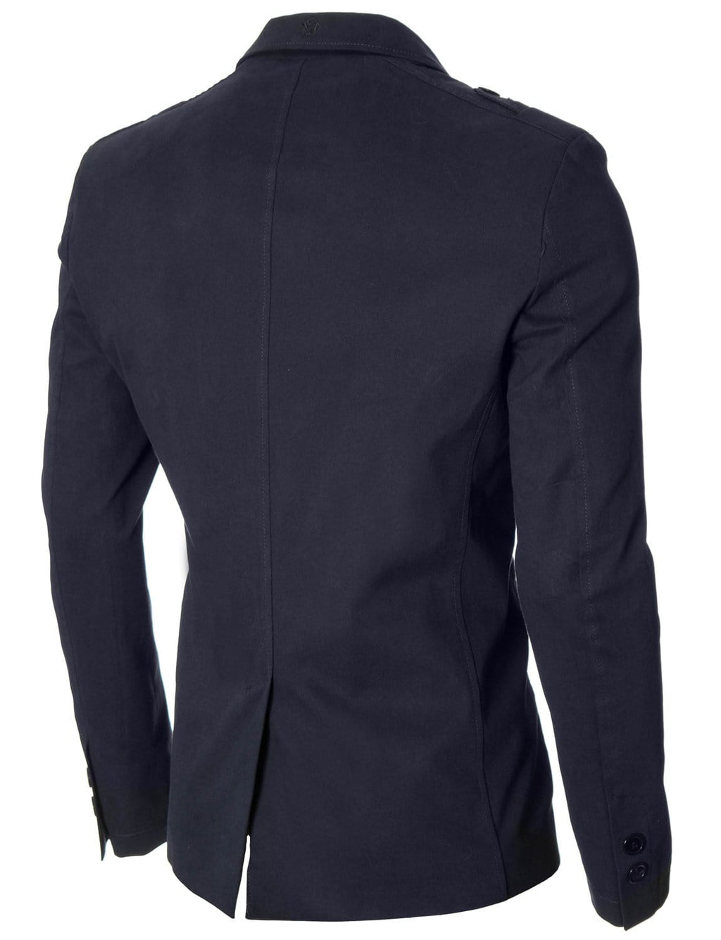 Mens slim fit casual blazer navy (MOD14518B)