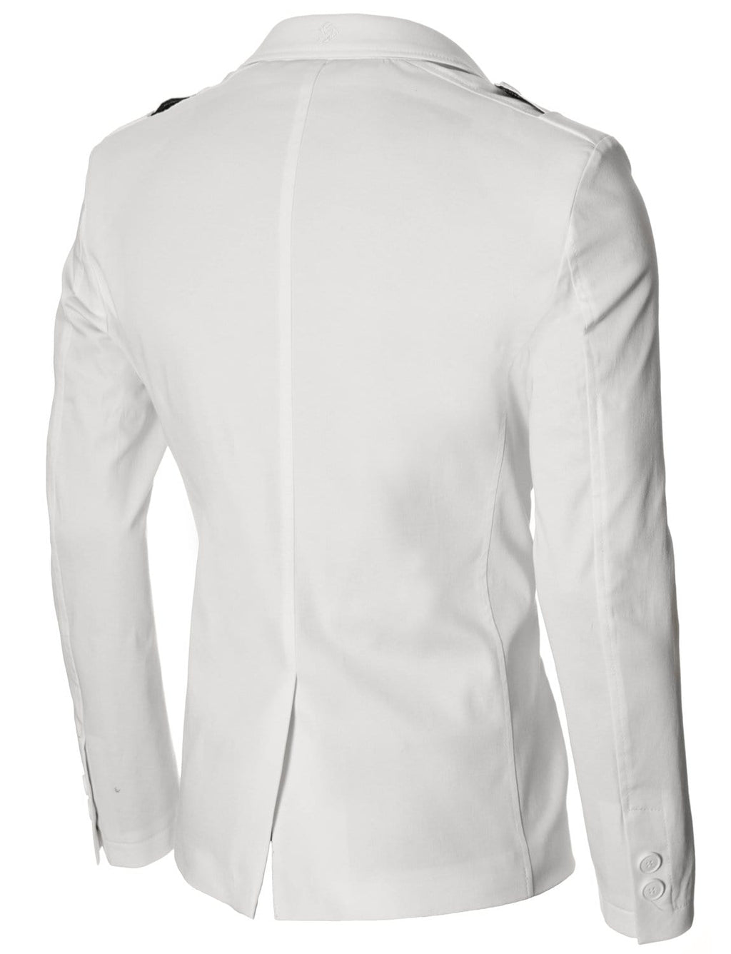 Mens slim fit casual blazer white (MOD14518B)
