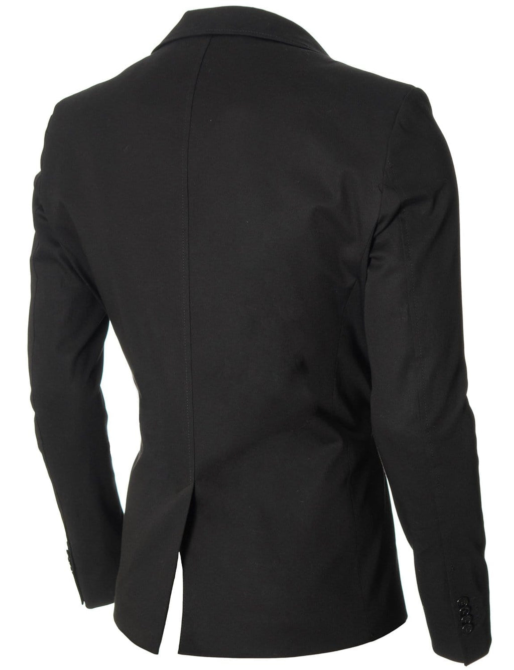 Mens slim fit cotton business blazer black (MOD14519B)