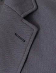 Mens slim fit blazer 2 buttons cotton sport coat gray (MOD14522B)