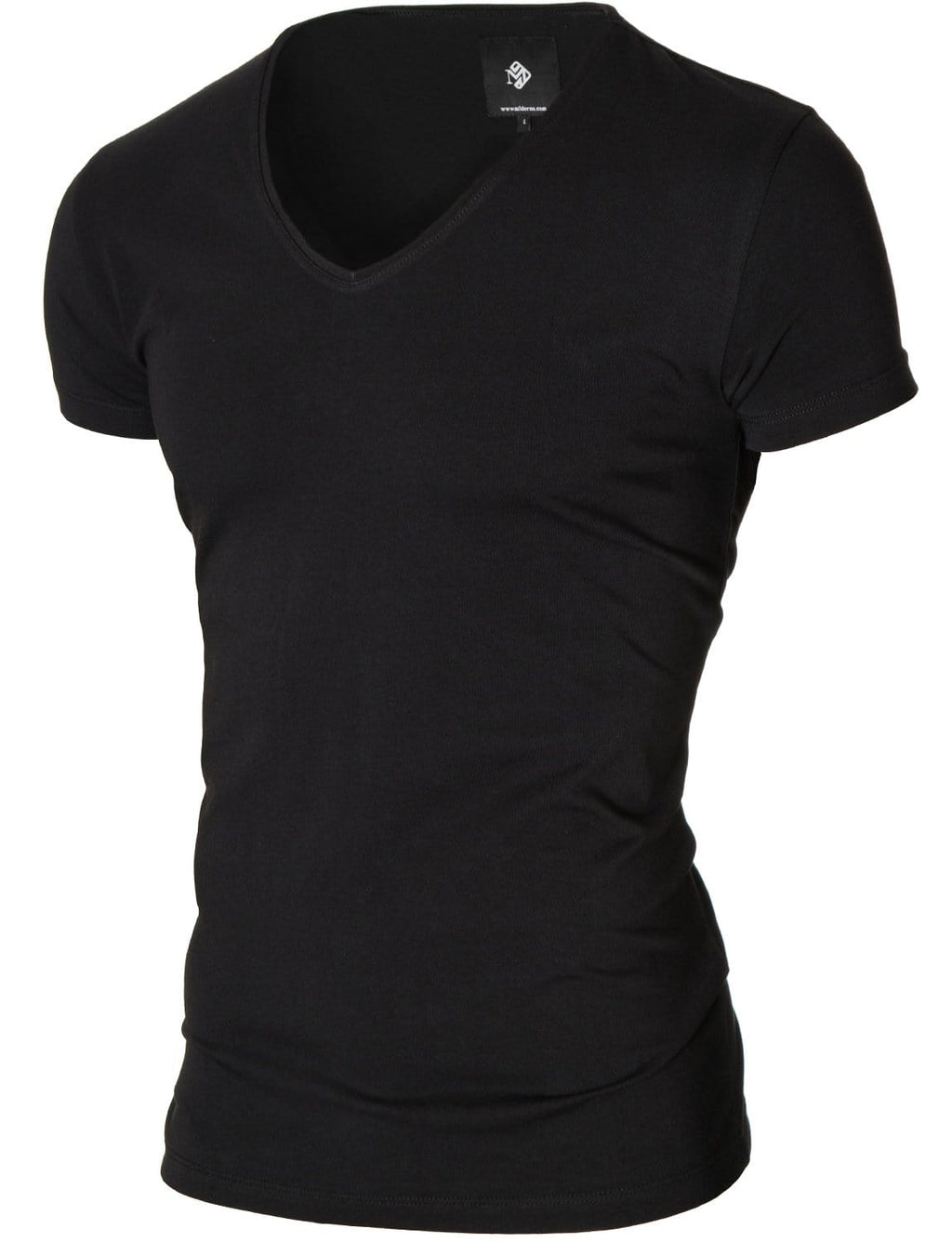 Mens basic V-neck t-shirt black (MOD2001VN)