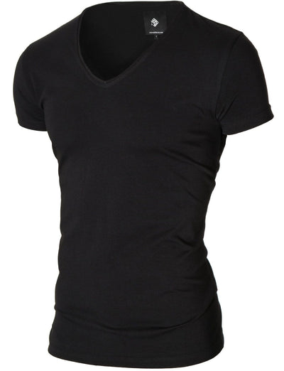 plain basic v neck  t-shirt