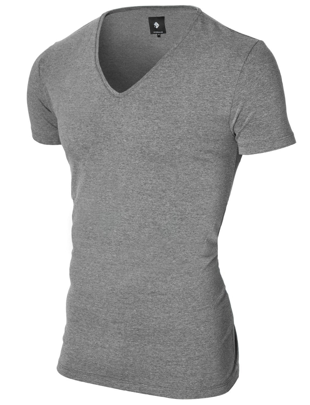 Mens basic V-neck t-shirt darkgray (MOD2001VN)
