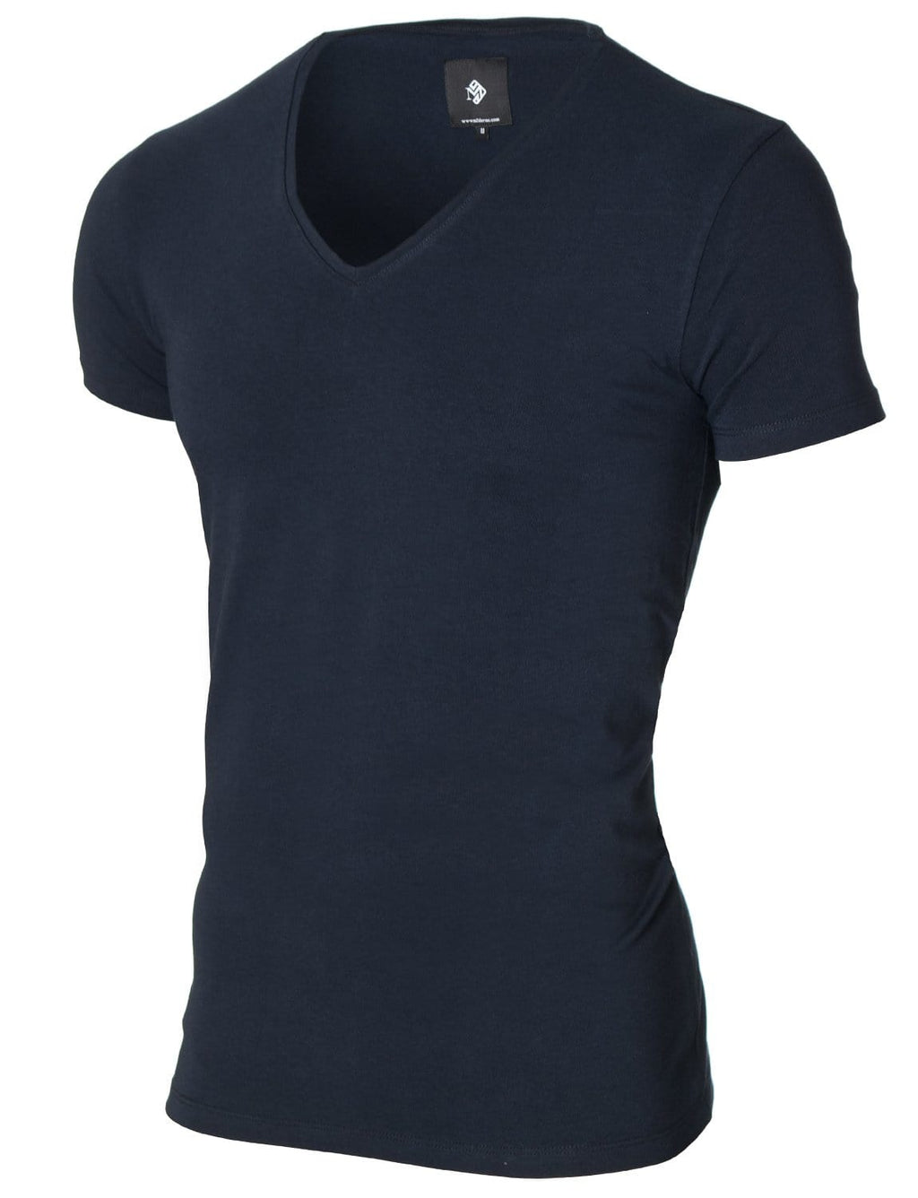 Mens basic V-neck t-shirt navy (MOD2001VN)