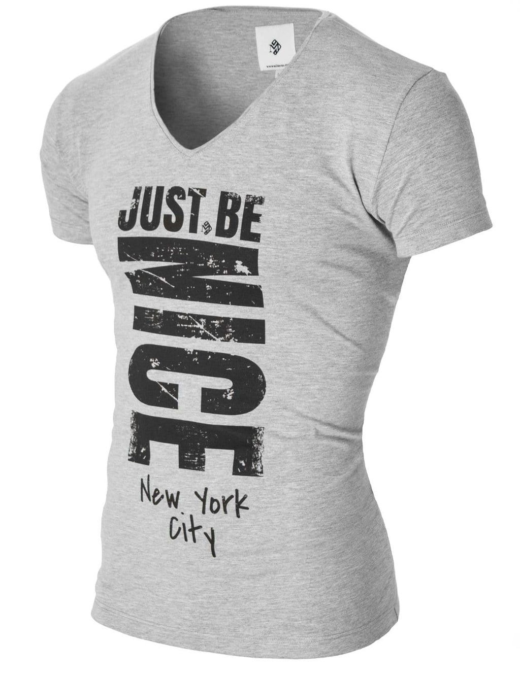 Mens Graphic Tee Slogan Print Gray (MOD2002VN)