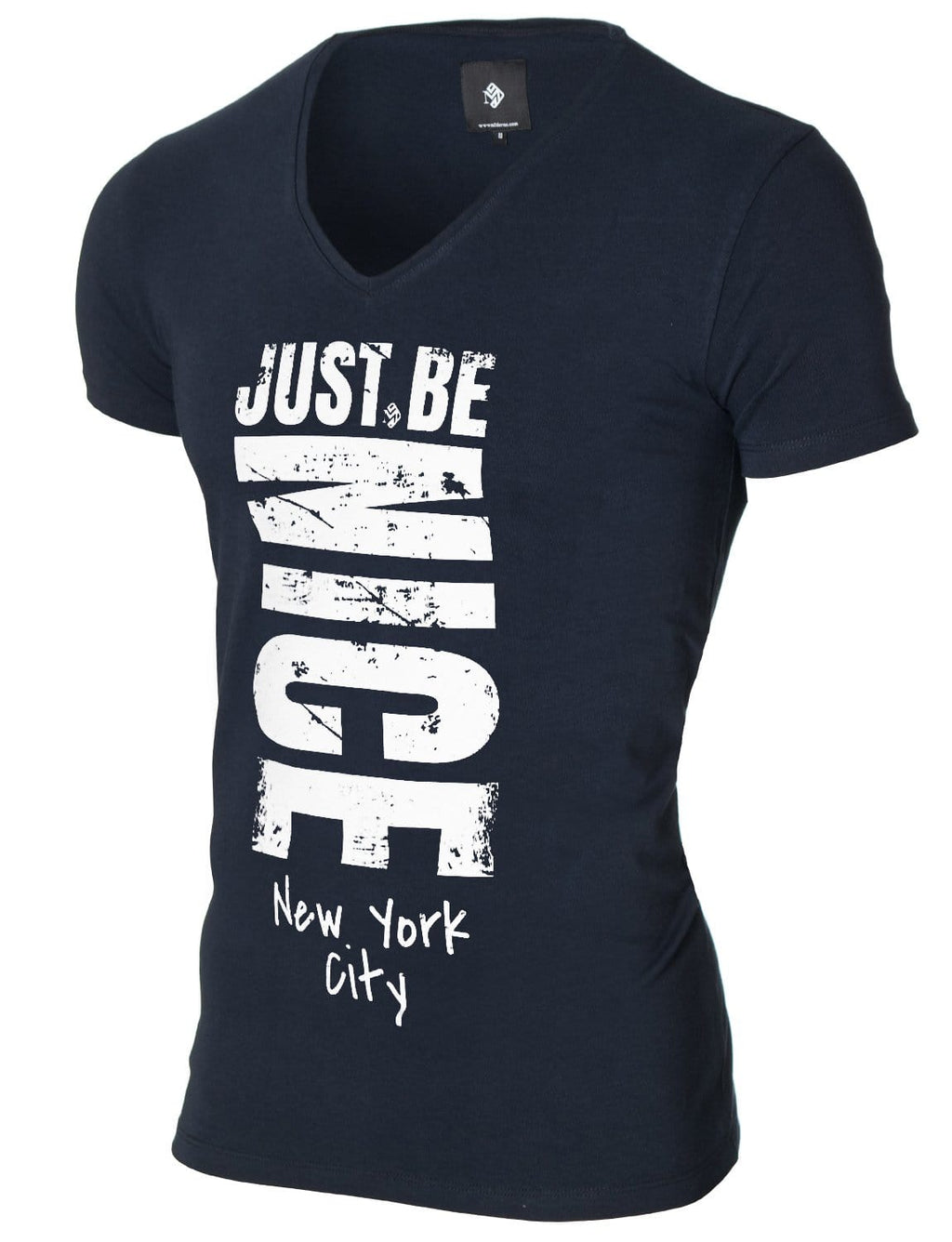 Mens Graphic Tee Slogan Print Navy (MOD2002VN)