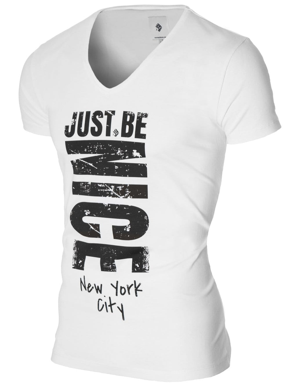 Mens Graphic Tee Slogan Print White (MOD2002VN)