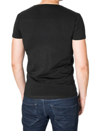 Mens printed t-shirt black (MOD2003VN)