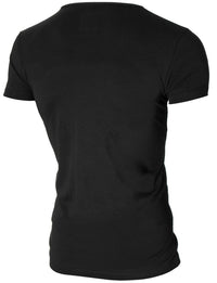 Mens printed graphic t-shirt black (MOD2006VN)