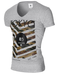 Mens printed graphic t-shirt gray (MOD2008VN)