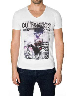 Mens Graphic Tee Cool Girl Print White (MOD2010VN)